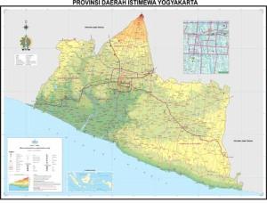 Peta Provinsi Daerah Istimewa Yogyakarta (Sumber: Bakosurtanal)